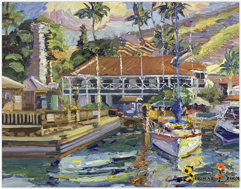 Mark Brown 'Stars 'n Stripes over Lahaina Harbor' Best In Show