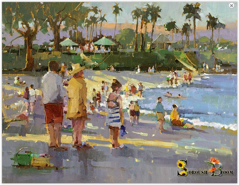 نقاشی از ساحل دریا