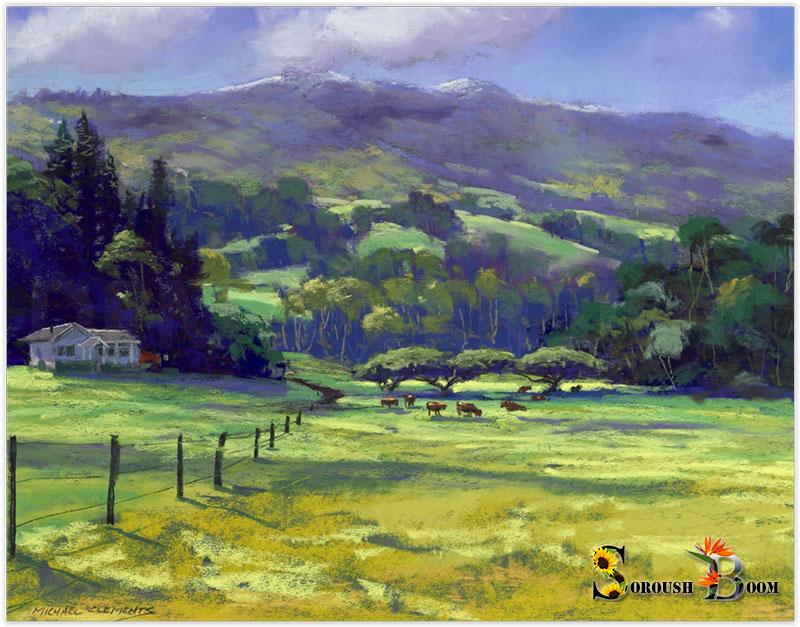 نقاشی با رنگ روغن از طبیعت