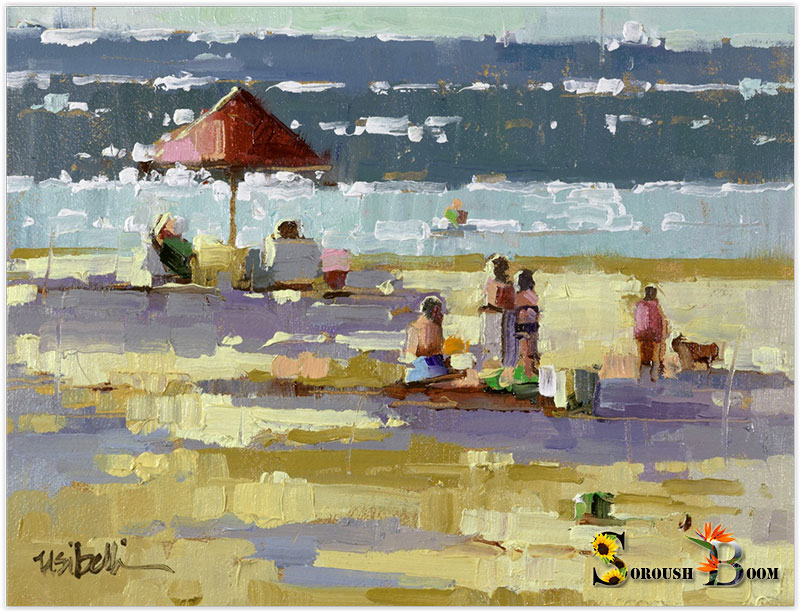 نقاشی رنگ روغن از دریا