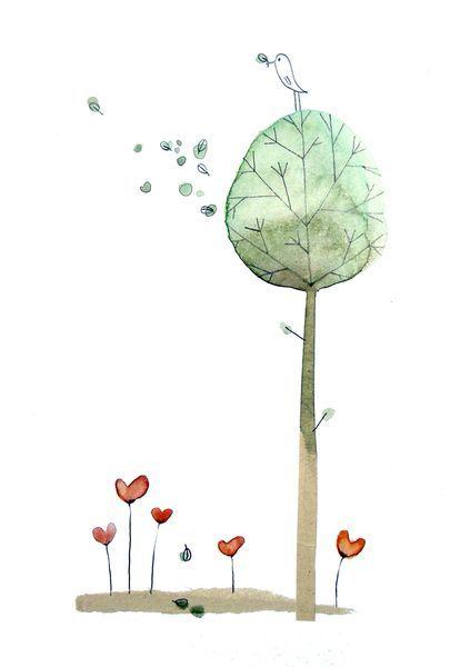 نقاشی درخت فانتزی