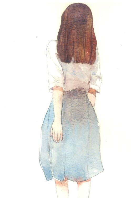 نقاشی دختری با آبرنگ
